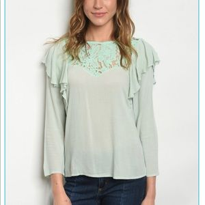 Tops - 💚💚Mint Mojito Lace Top